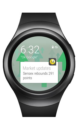 stock market live on smart watch