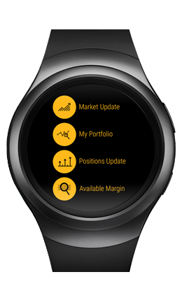 Portfolio management from smart watch